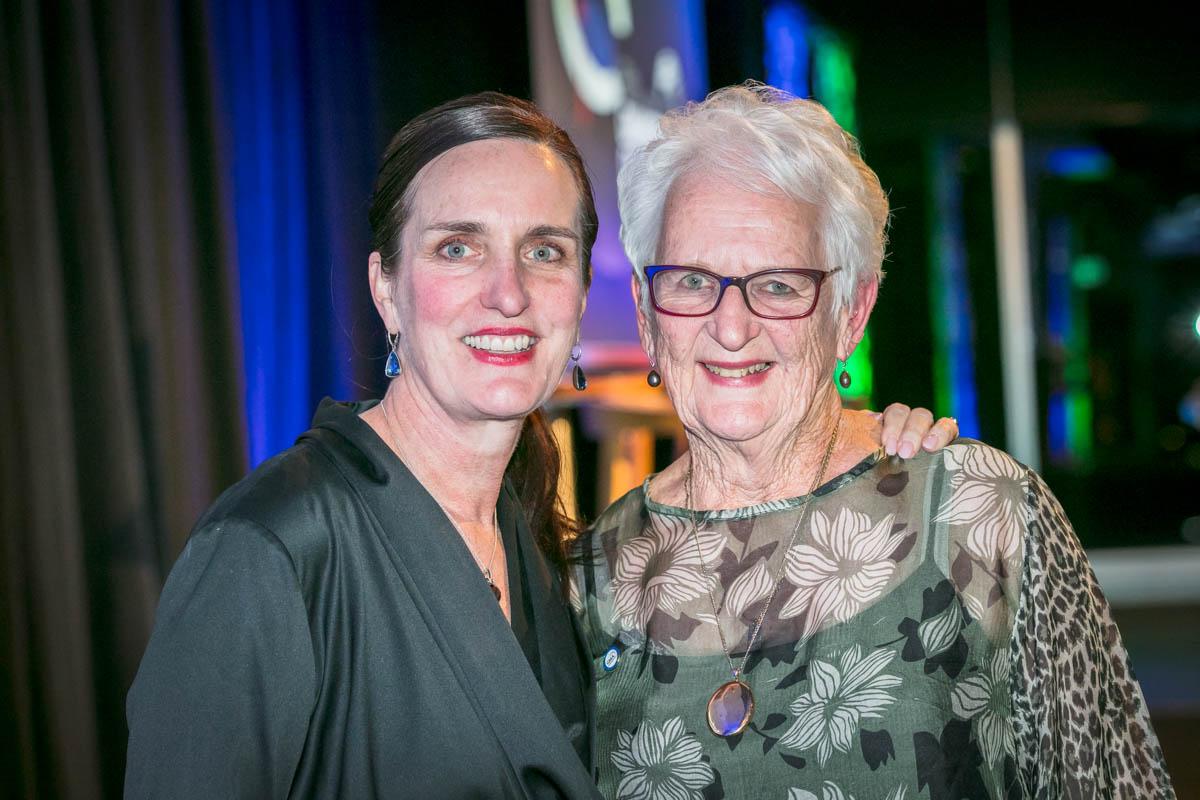 New GMA Chair, Cathy Neagle, with newly bestowed Life Member, Billie Friedlander